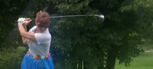 Barb Green playing golf
