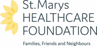 ST MARYS HEALTHCARE FOUNDATION logo stacked full colour TAGLINE